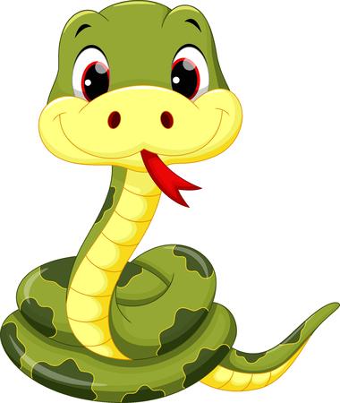 snake head: Cute baby snake cartoon