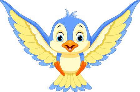 songbird: Blue bird will land Illustration