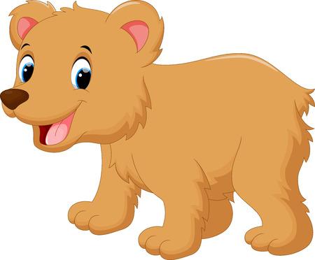 ourson: Bébé mignon dessin animé ours Illustration