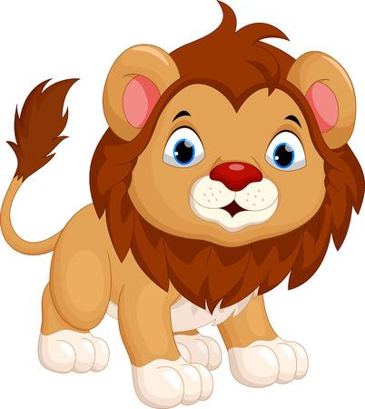 undomesticated: Cute lion cartoon Illustration