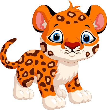 dexterous: Cute leopard cartoon
