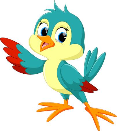 Caricatura de aves lindo  Foto de archivo - 55360473