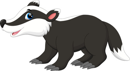 Cute badger cartoon Illustration