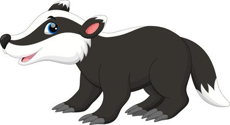 Cute badger cartoon Illustration