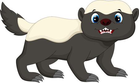 carnivora: Honey badger cartoon