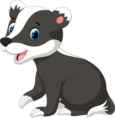 cute cartoon: Cute badger cartoon Illustration