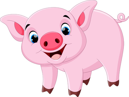pigling: Cute pig cartoon