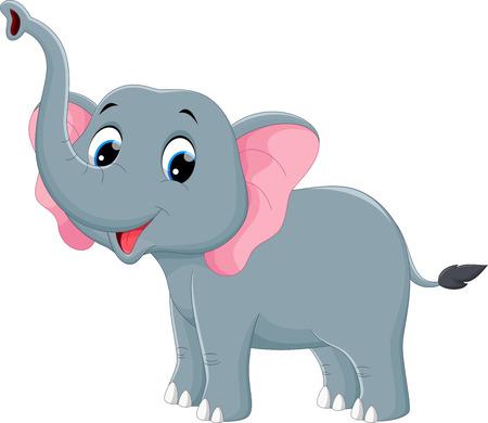 ilustración de la decoración de un elefante en Indian Ilustración de vector