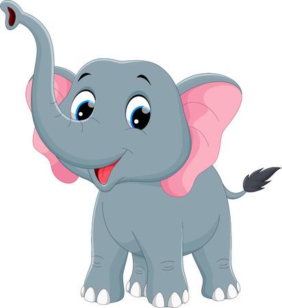 Illustration de bande dessinée mignonne d'éléphant Banque d'images - 56063515