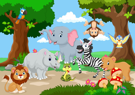 juego animal salvaje en un hermoso jardín