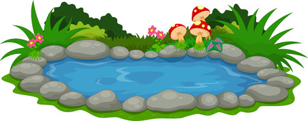 Mały rysunek jeziora