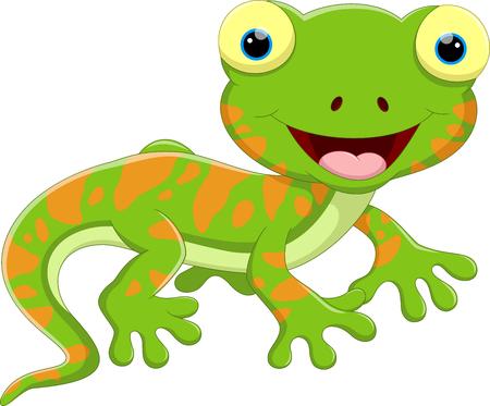 salamandre: Bande dessinée mignonne de lézard