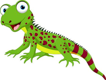 Cute lizard cartoon
