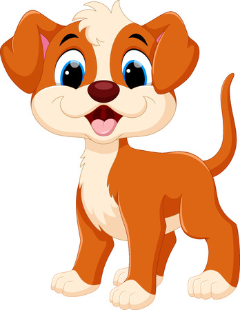 Cute dog cartoon Standard-Bild - 63653072
