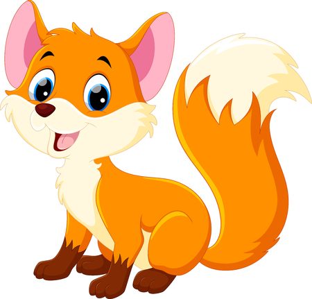 Cute baby fox cartoon