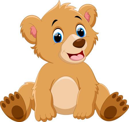 귀여운 아기 곰 만화