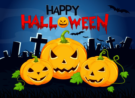 bewitchment: Halloween background with pumpkin Illustration