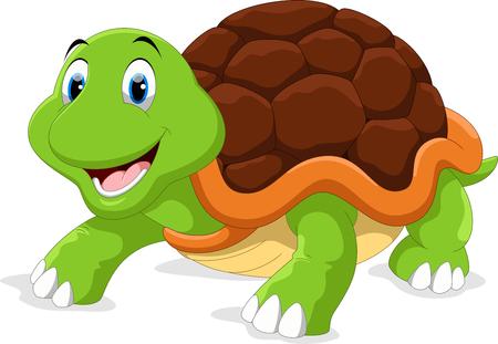 Leuke schildpad cartoon Stock Illustratie