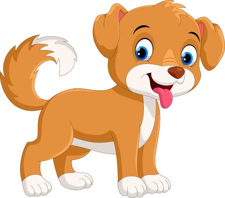 Cute little dog cartoon Illustration