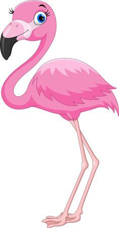 Kreskówka różowy ptak flamingo Ilustracje wektorowe