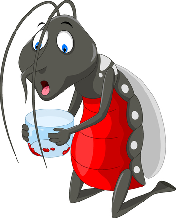 Mosquito cartoon. Bloodthirsty mosquitoes