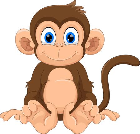 Dessin animé mignon de singe Vecteurs