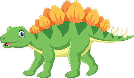 Cute stegosaurus cartoon Ilustrace
