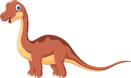 Cute brontosaurus cartoon