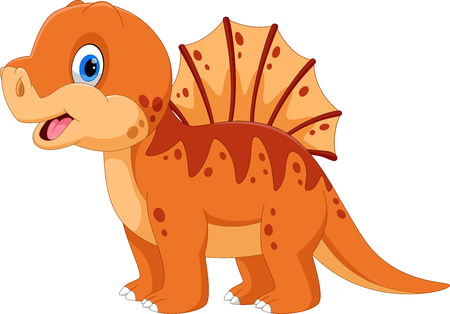 Illustration of cute a Spinosaurus cartoon