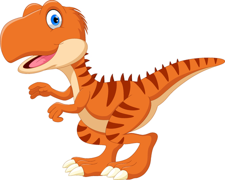 Happy Tyrannosaurus cartoon Ilustrace