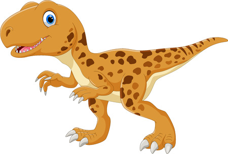 Happy Tyrannosaurus cartoon Illustration