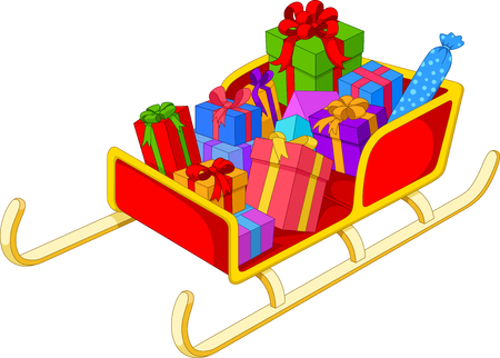 Christmas Santa sledge with gifts