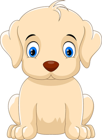 Vector illustration of cute and adorable dog cartoon isolated on white background