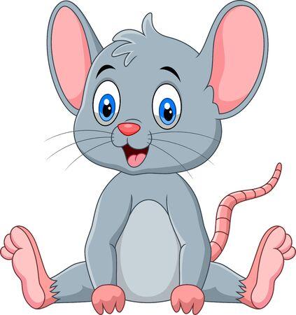 Cute mouse cartoon Иллюстрация