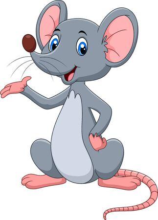 Illuatration prezentującej kreskówki Cute myszy Ilustracje wektorowe