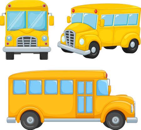 Illustration of cartoon school bus Иллюстрация