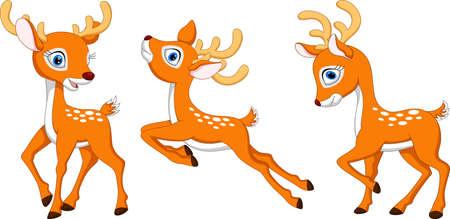 Illustration of cartoon deer collection set Иллюстрация