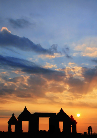 daytime: Sunset In Ratu Boko Temple