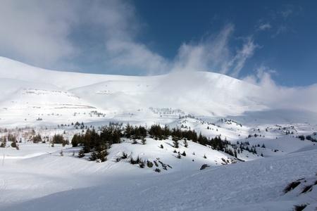 Winter mountain in Lebanon