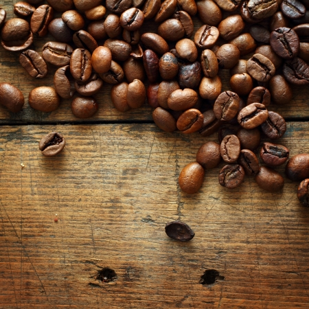 coffee table: Coffee on grunge wooden background