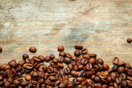 Coffee on grunge wooden background Stock Photo - 16776096