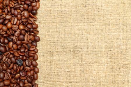 Coffee on burlap background Stock Photo - 16776438