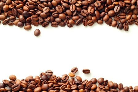 Coffee on white background