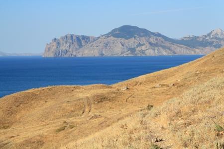 View of autumn landscape in the Crimea mountains, Ukraine