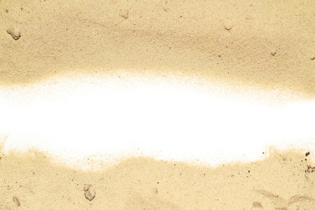 sand and white space for text Stock Photo - 16776474