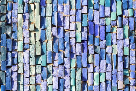 Blue Tile Mosaic texture Stock Photo - 16776455