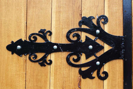 iron nail: Gate decoration detail Stock Photo