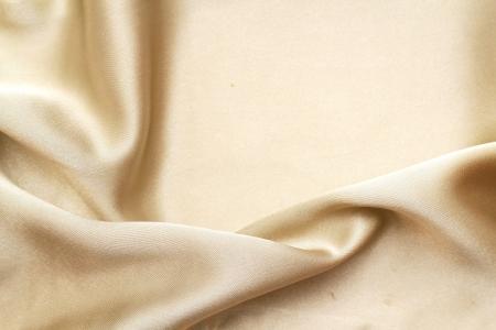 Gold silk textile Stock Photo