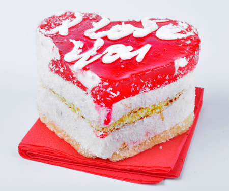 Cake in the shape of the heart