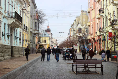 chernivtsi: Street in old town, Chernivtsi, Ukraine